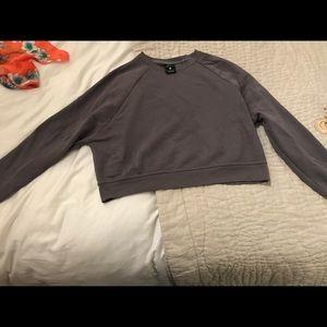 Nike Just Do It Dri-Fit Cotton Sweatshirt in Grey